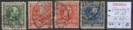 DANMARK DK 47II 48 I II 49 I - 1864-04 (Christian IX)