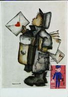 FACTEUR De Belgique  (1969) -  Carte Maximum Card FDC  - (Postman - Briefträger - Postbode) - Poste & Facteurs