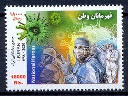 2020  National Heroes Stamp - Corona -  Covid 19  ,  Iran - Disease