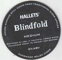 HALLETS CIDER  (CAERPHILLY, WALES) - BLINDFOLD, MEDIUM - PUMP CLIP FRONT - Letreros