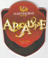HARTSHORNS BREWERY  (DERBY, ENGLAND) - APOCALYPSE - PUMP CLIP FRONT - Letreros