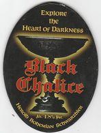 HEROLD BOHEMIAN BREWERY  (BREZNICE, CZECH REPUBLIC) - BLACK CHALICE - PUMP CLIP FRONT - Letreros