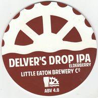 LITTLE EATON BREWERY  (LITTLE EATON, ENGLAND) - DELVER'S DROP IPA - PUMP CLIP FRONT - Letreros