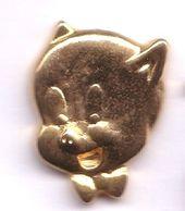 BD286 Pin's Doré Petit Cochon Disney En 3D Superbe Achat Immédiat - Disney