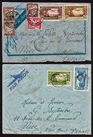 DAKAR (sénégal) Bon Lot De 2 Lettres Obl. En 1941 Par Avion, Dont Une Taxée à 3f.70 Pour Nice. TB - Cartas