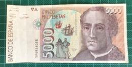 BILLET DE 5000 PESETAS 1992 BE - [ 4] 1975-… : Juan Carlos I