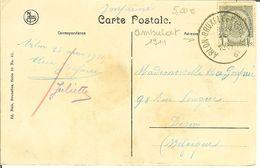"""CP De ARLON """" Le Château Et Parc Du Bois D'Arlon """" Cachet AMBULANT De ARLON-BRUXELLES 1911 - Postmark Collection"""