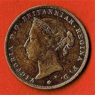 JERSEY / VICTORIA / 1/24eme DE SHILLING / 1877 H - Jersey