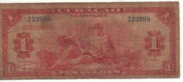 CURACAO' (Netherlands Antilles)  1 Gulden      P-35a    Dated  1942   * WWII * - Antilles Néerlandaises (...-1986)