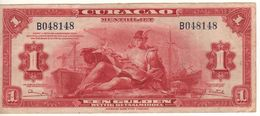 CURACAO' (Netherlands Antilles)  1 Gulden      P-35b    Dated  1947 - Antilles Néerlandaises (...-1986)