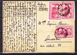 Pologne - Carte Postale De 1948 - Oblit Warsawa - Exp Vers Anvers - - 1944-.... Republic