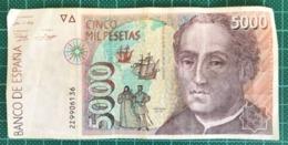 BILLET 5000 PESETAS 1992 - [ 4] 1975-… : Juan Carlos I
