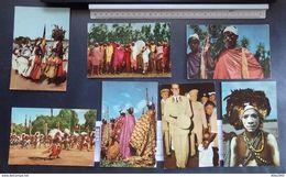 Congo Belge -Voyage Du ROI Au Congo - Eté 1955 - Lot De 20 Cartes Postales - 4 Scans - Belgisch-Kongo - Sonstige
