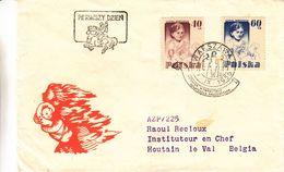 Pologne - Lettre De 1956 - Oblit Warsawa - Exp Vers Houtain Le Val - Enseignement -  Institutrice - - 1944-.... Republic