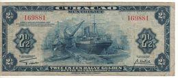 CURACAO' (Netherlands Antilles)  2,50 Gulden      P-36    Dated  1942    - WWII- - Antilles Néerlandaises (...-1986)