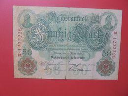 Reichsbanknote 50 MARK 1906(DATE+RARE) 7 CHIFFRES CIRCULER (B.14) - 50 Mark