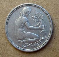 1950 D - GERMANIA 50 Pfenning - Circolata - 2 Pfennig