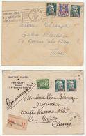 Lot 4 Lettres Gandon Surchargés ALGERIE  (2 Scans) - Covers & Documents