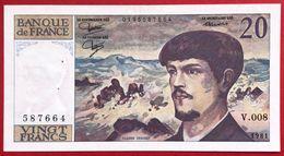 N°104 BILLET BANQUE DE FRANCE 20 FRANCS DEBUSSY 1981 - 1962-1997 ''Francs''