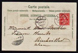 SUISSE: Timbre N° 67 Obl. Glion En 1897 Sur Une Très Belle Carte Gruss Du Grand Hôtel De Caux En 1897. TTB - Marcophilie