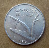 1979 R - ITALIA 10 Lire Aratro / Spighe - Circolata - 10 Lire