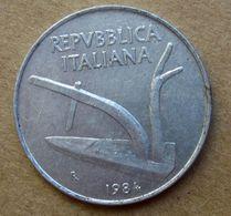 1984 R - ITALIA 10 Lire Aratro / Spighe - Circolata - 10 Lire