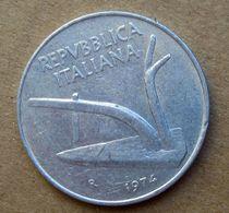 1974 R - ITALIA 10 Lire Aratro / Spighe - Circolata - 10 Lire