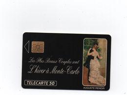 MONACO -1991 -Télécarte  Privée - 50 Unités - Auguste  RENOIR-  Encart  (n° -815 /1 000 ) Non Utilisée-  Rare - Monaco