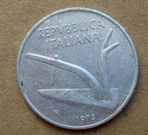 1973 R - ITALIA 10 Lire Aratro / Spighe - Circolata - 10 Lire