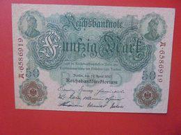 Reichsbanknote 50 MARK 1910 CIRCULER (B.14) - 50 Mark