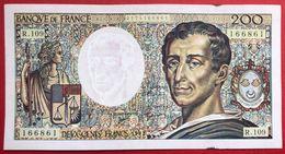 N°107 BILLET BANQUE DE FRANCE 200 FRANCS MONTESQUIEU 1992 - 1962-1997 ''Francs''