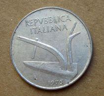 1975 R - ITALIA 10 Lire Aratro / Spighe - Circolata - 10 Lire