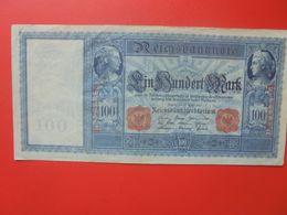 Reichsbanknote 100 MARK 1910 SIGLE ROUGE CIRCULER (B.14) - [ 2] 1871-1918 : Impero Tedesco