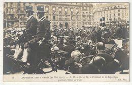 ALPHONE XIII à Paris (31 Mai 1905) - S.M. Le Roi Et M. Le Président De La République Quittent L'Hôtel De Ville - ND 16 - Recepciones
