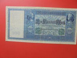 Reichsbanknote 100 MARK 1910 SIGLE VERT CIRCULER (B.14) - [ 2] 1871-1918 : German Empire