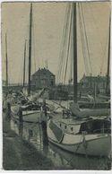 Lillo   -   Het Jacht-haventje Van Lillo:   PRACHTKAART!   1950   Scherpenheuvel  Naar   Antwerpen - Houthalen-Helchteren