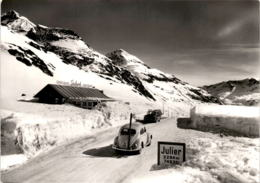 Julierpasshöhe (39/665) - VW Käfer Mit Ski - GR Grisons