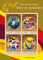 SIERRA LEONE 2016 - Badminton, Rio Olympics - YT CV=20 €, 5729-32 - Badminton
