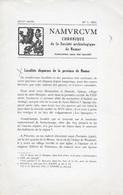 Société Archéologique De Namur. Localités Disparues? Echerennes (Philippeville) Fécheroule (Rosée) Etc... - Culture