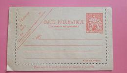 Carte Pneumatique - 45 F Orange Chaplain - Postwaardestukken