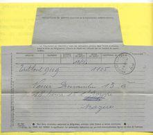 Télégramme Modèle 701 - Obliteration Horoplan MAISONS ALFORT SEINE 1955 - Postdokumente