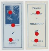 Bruxelles FRITZ FRAIKIN  / PERLES CULTIVEES DE MIKIMOTO / Réunion De 2 Documents - Parfum & Cosmetica