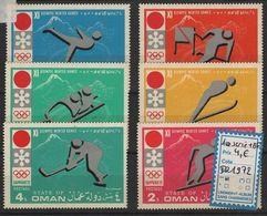 JO72-H49 - OMAN Série De 6 Val. Obl. Jeux Olympiques Sapporo 1972 - Omán