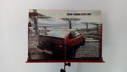 Coupure De Presse De 1984 Honda Civic 1500 CRX - Voitures