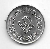 Singapore 10 Cents 1980 Km 3 - Singapore