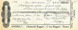 1934 PESARO CAMBIALE PUBBLCITARIA RUGGERI ANEMIA - Vecchi Documenti