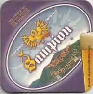 Sampion Pivo Beer Coaster From Vrsac Brewery Yugoslavia Serbia - Sous-bocks