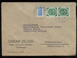 Oskar Zeuch Möbel- Und Sperrholz-Fabrikation Eschwege > USA Army Headquarters (APO 169) Frankfurt (75) - Brieven En Documenten
