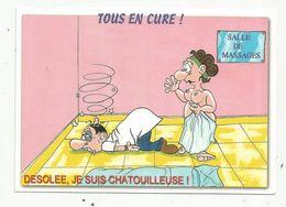 Cp , Humour , TOUS EN CURE ! Désolée , Je Suis Chatouilleuse , Vierge - Humour
