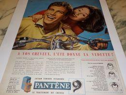 ANCIENNE PUBLICITE A VOS CHEVEUX  PANTENE 1958 - Parfum & Kosmetik